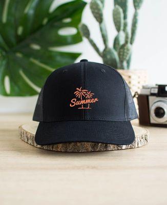 Casquette trucker Summer palm (brodé)