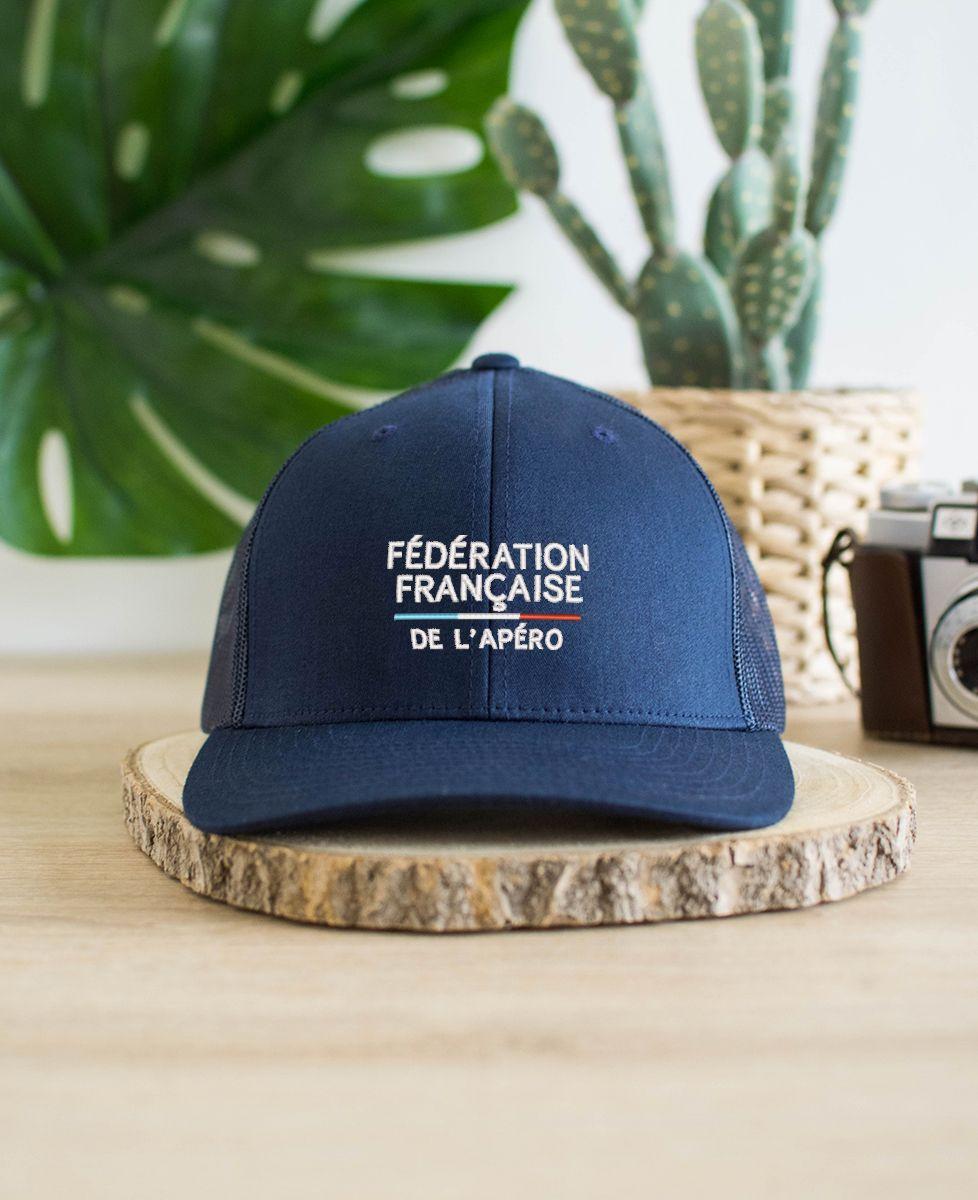 Casquette trucker Fédération française de l'apéro (brodé)