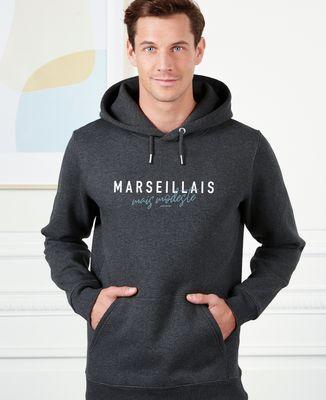 Hoodie homme Marseillais mais modeste