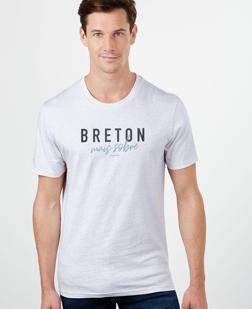 T-Shirt homme Breton mais sobre