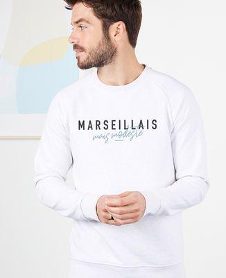 Sweatshirt homme Marseillais mais modeste