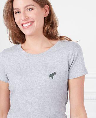 T-Shirt femme Éléphant (brodé)