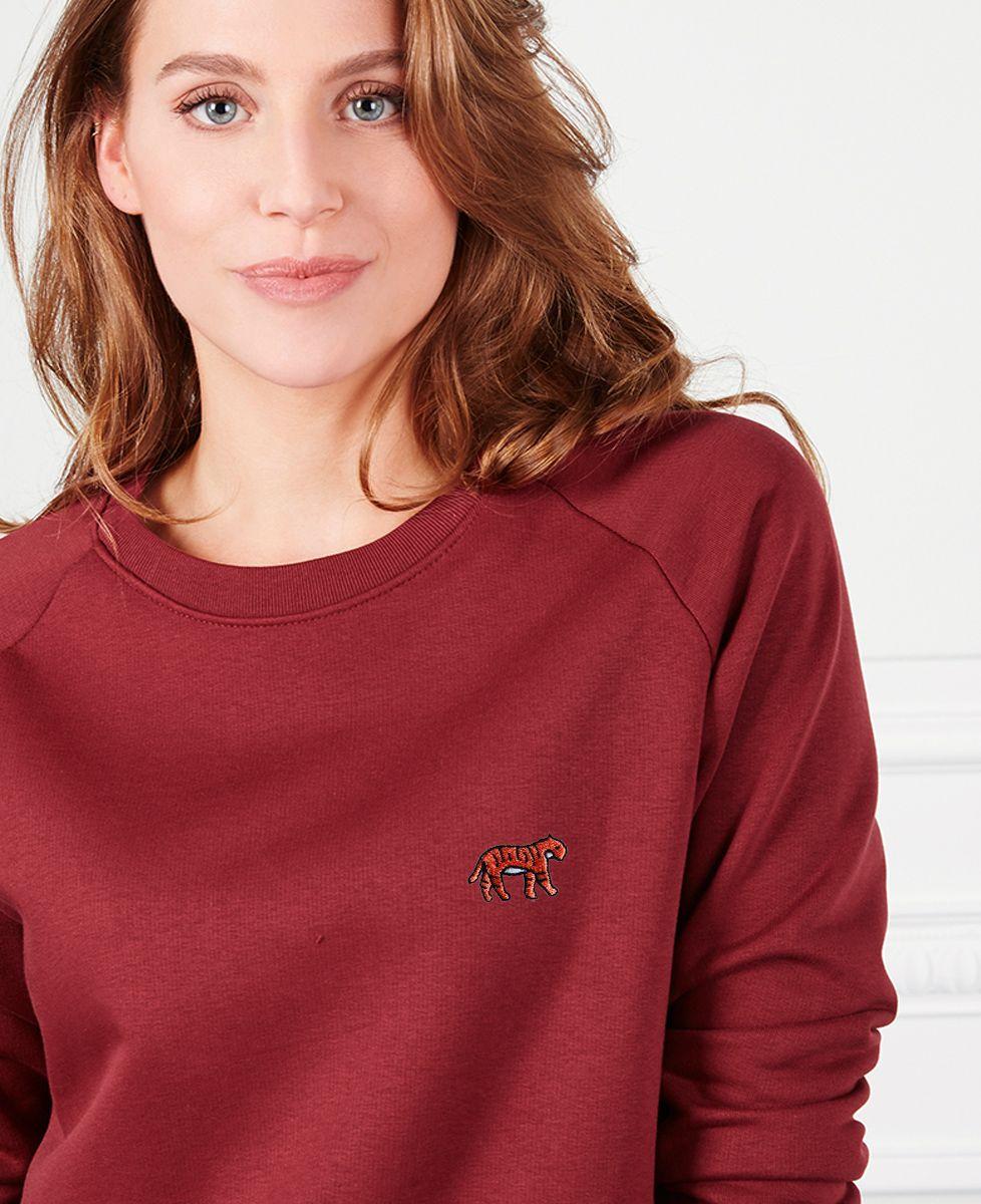 Sweatshirt femme Tigre (brodé)