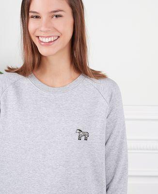 Sweatshirt femme Zèbre (brodé)