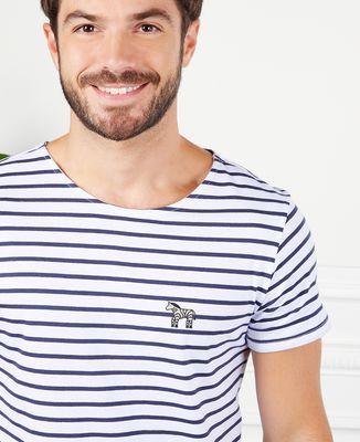 T-Shirt homme Zèbre (brodé)