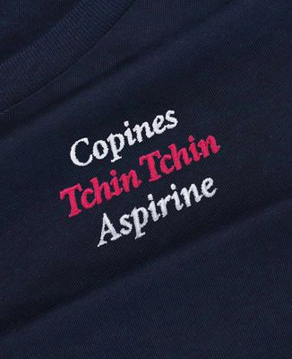 Sweatshirt femme Copines, Tchin Tchin, Aspirine (brodé)