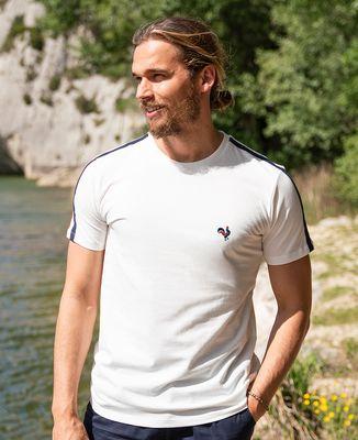 T-shirt homme recyclé Filgood Le coq (brodé)