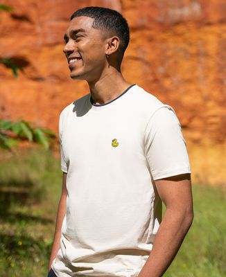 T-shirt homme recyclé Filgood Filgood Canard jaune (brodé)