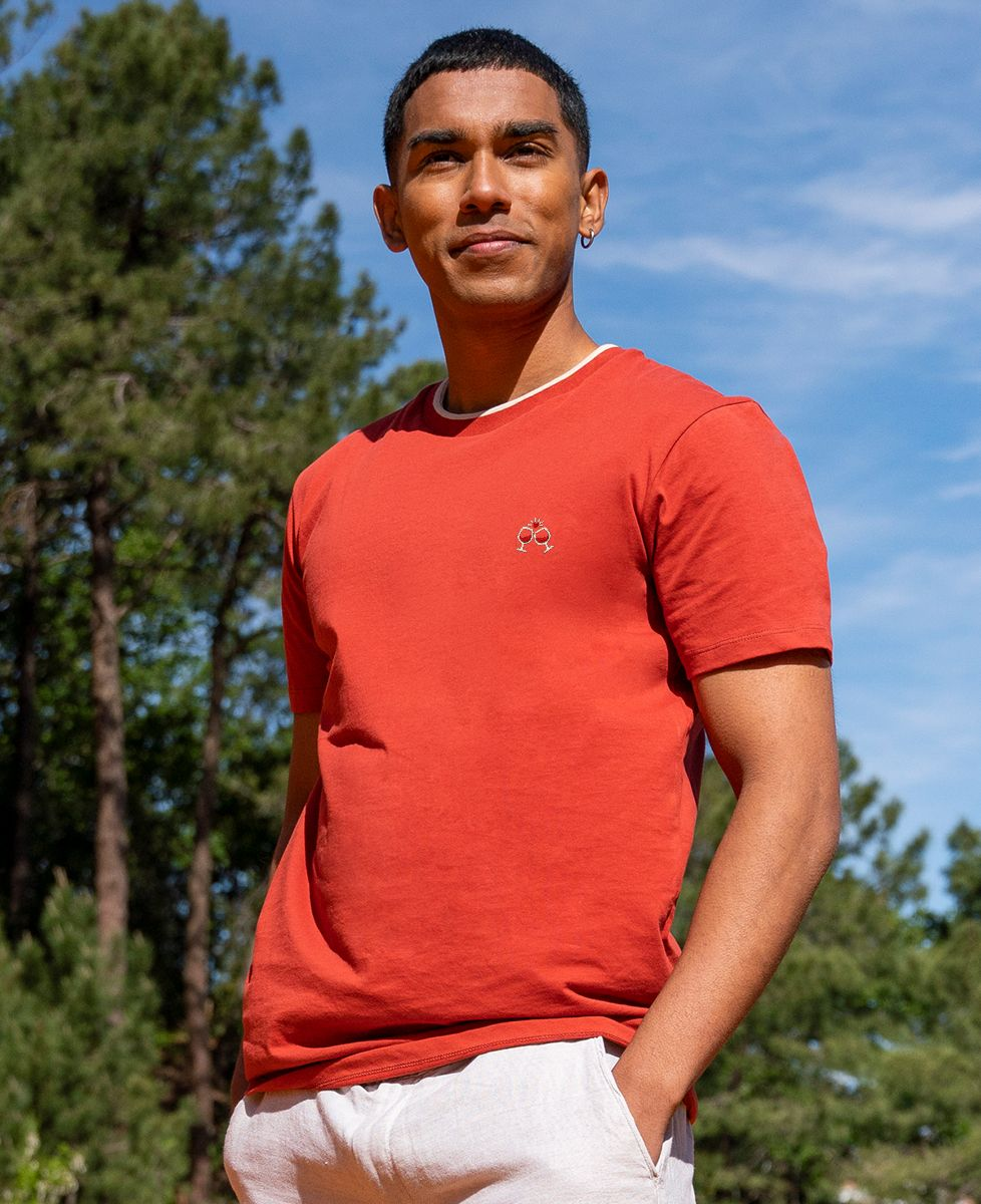 T-shirt homme recyclé Filgood Filgood Tchin Tchin (brodé)