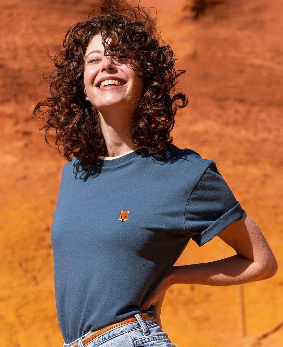 T-shirt femme recyclé Filgood Filgood Renard (brodé)