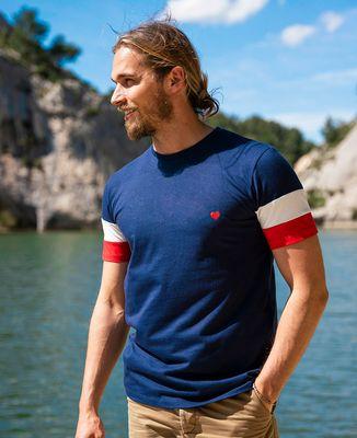 T-shirt homme recyclé Filgood Filgood Coeur (brodé)