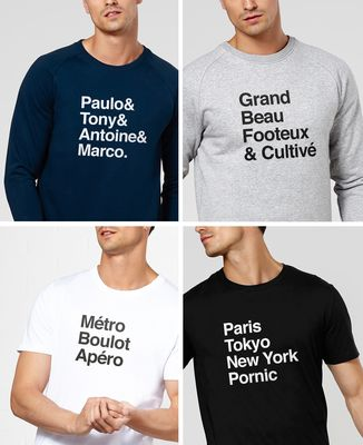 T-Shirt homme Message imprimé personnalisé - Liste