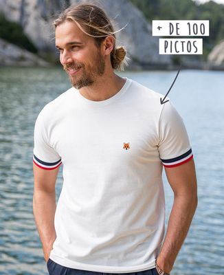 T-shirt homme recyclé Filgood Filgood picto brodé personnalisé