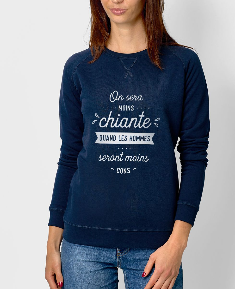 Sweatshirt femme On sera moins chiante