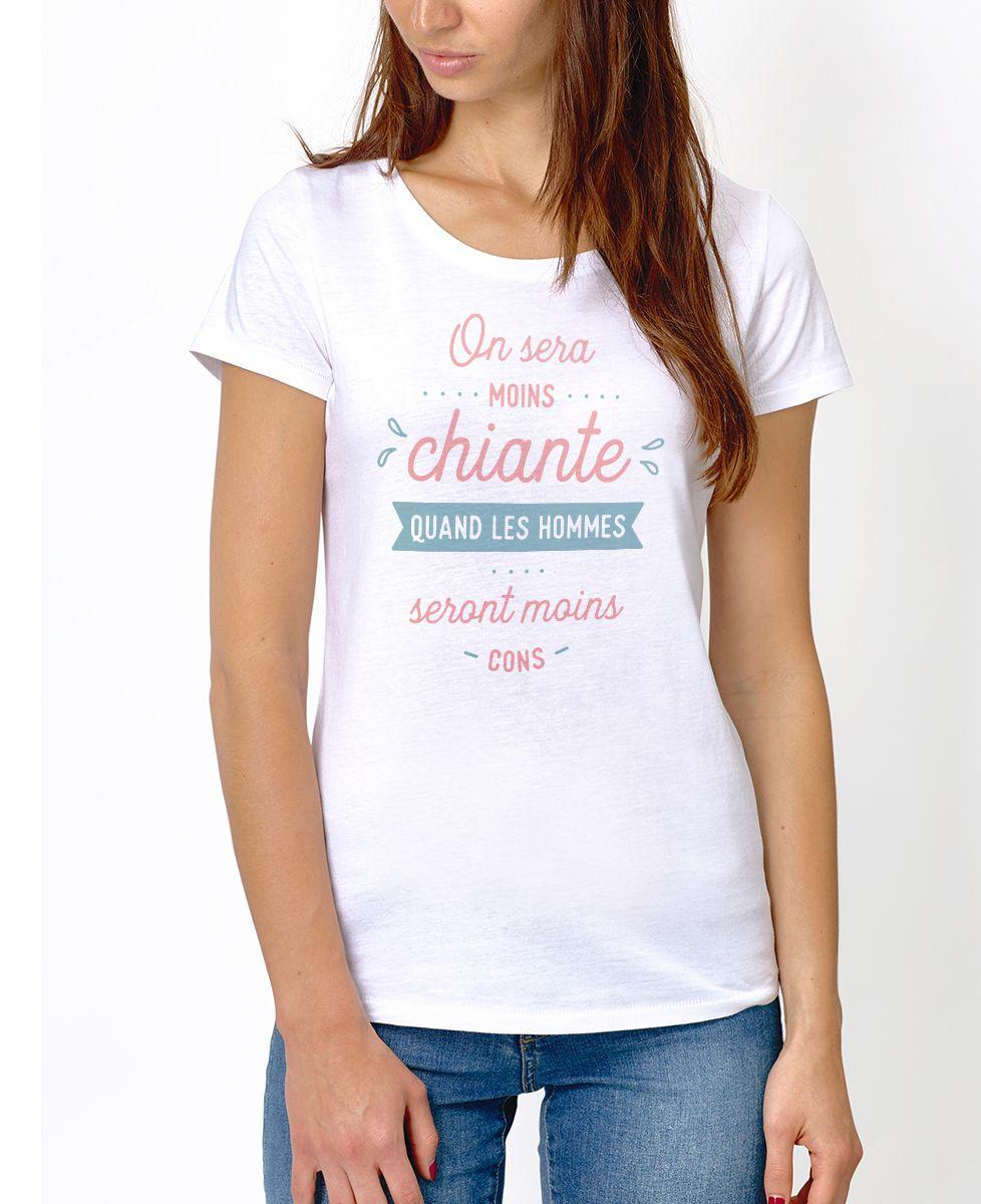 T-Shirt femme On sera moins chiante