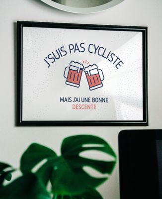 Affiche J'suis pas cycliste