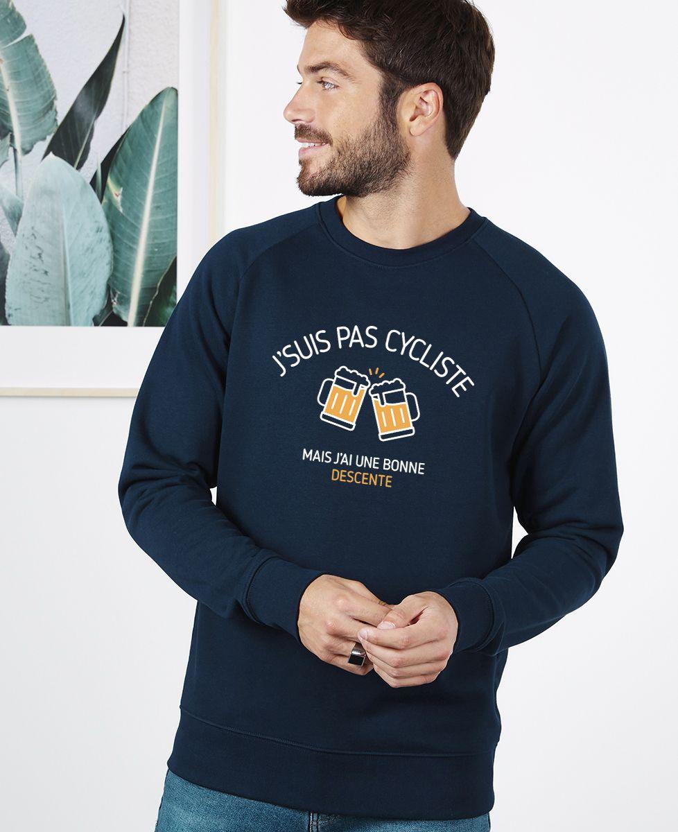 Sweatshirt homme J'suis pas cycliste