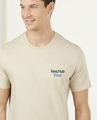T-Shirt homme Veni, Vedi, Vomi (brodé)