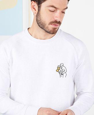 Sweatshirt homme Couple nu (brodé)