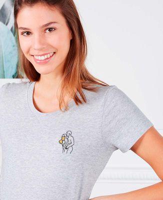 T-Shirt femme Couple nu (brodé)