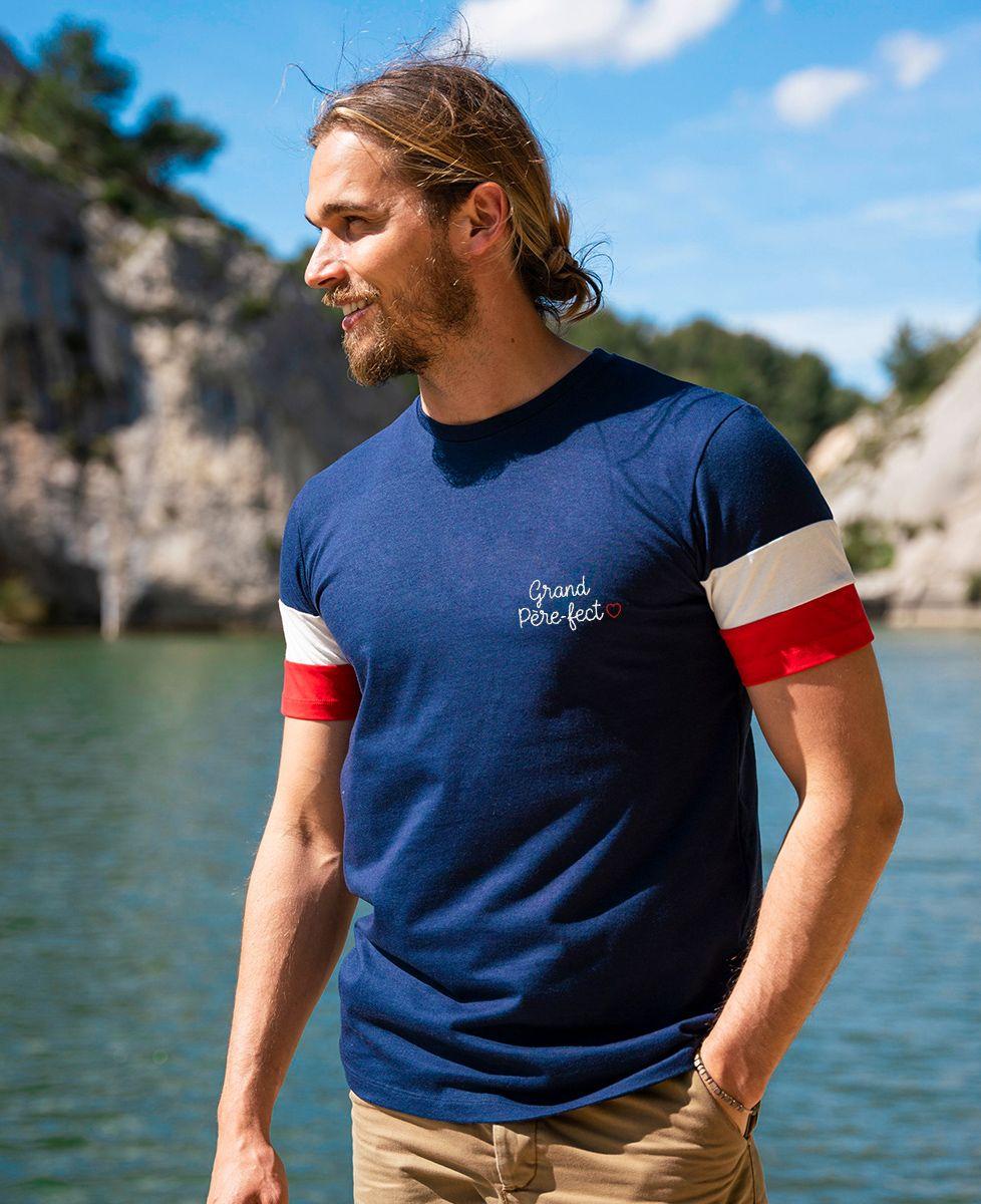 T-shirt homme recyclé Filgood Filgood Grand père-fect (brodé)