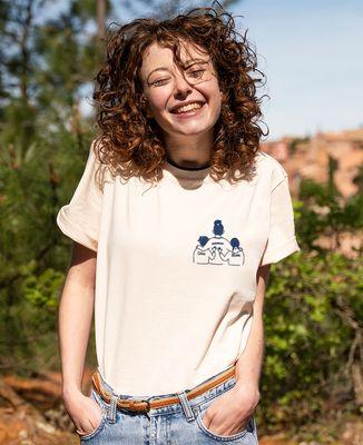 T-shirt femme recyclé Filgood Filgood parent et enfant personnalisé (brodé)
