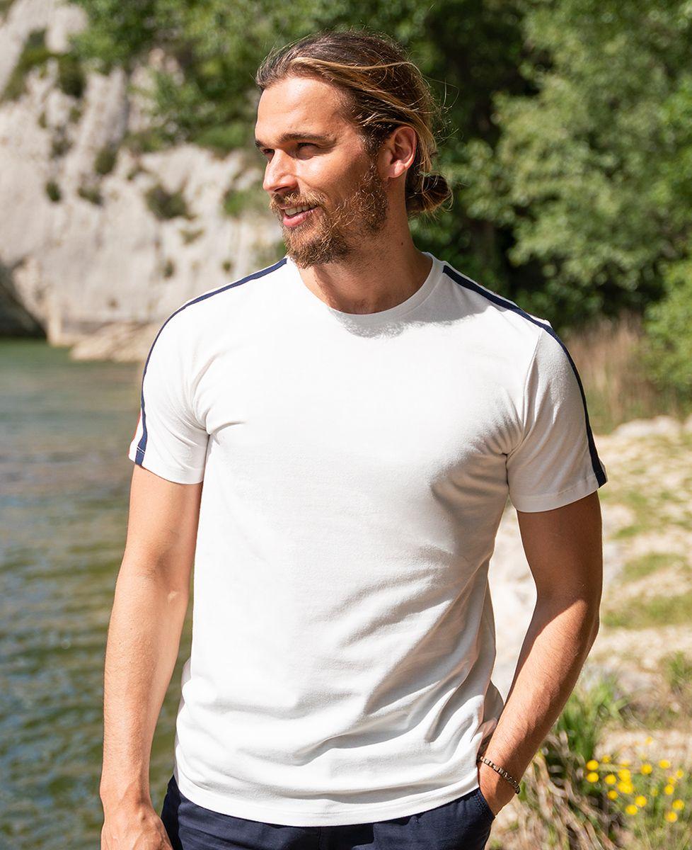 T-shirt homme recyclé Filgood Filgood Date de naissance brodé personnalisé