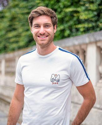 T-shirt homme recyclé Filgood Filgood Date de rencontre brodé personnalisé