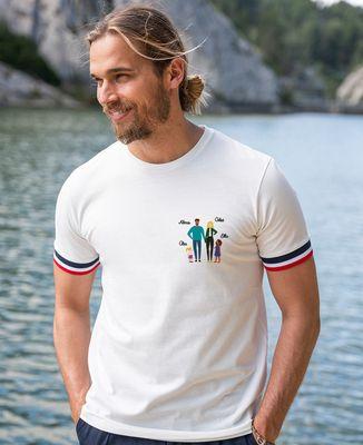 T-shirt homme recyclé Filgood Filgood Famille personnalisée