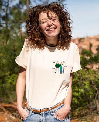 T-shirt femme recyclé Filgood Filgood Famille personnalisée