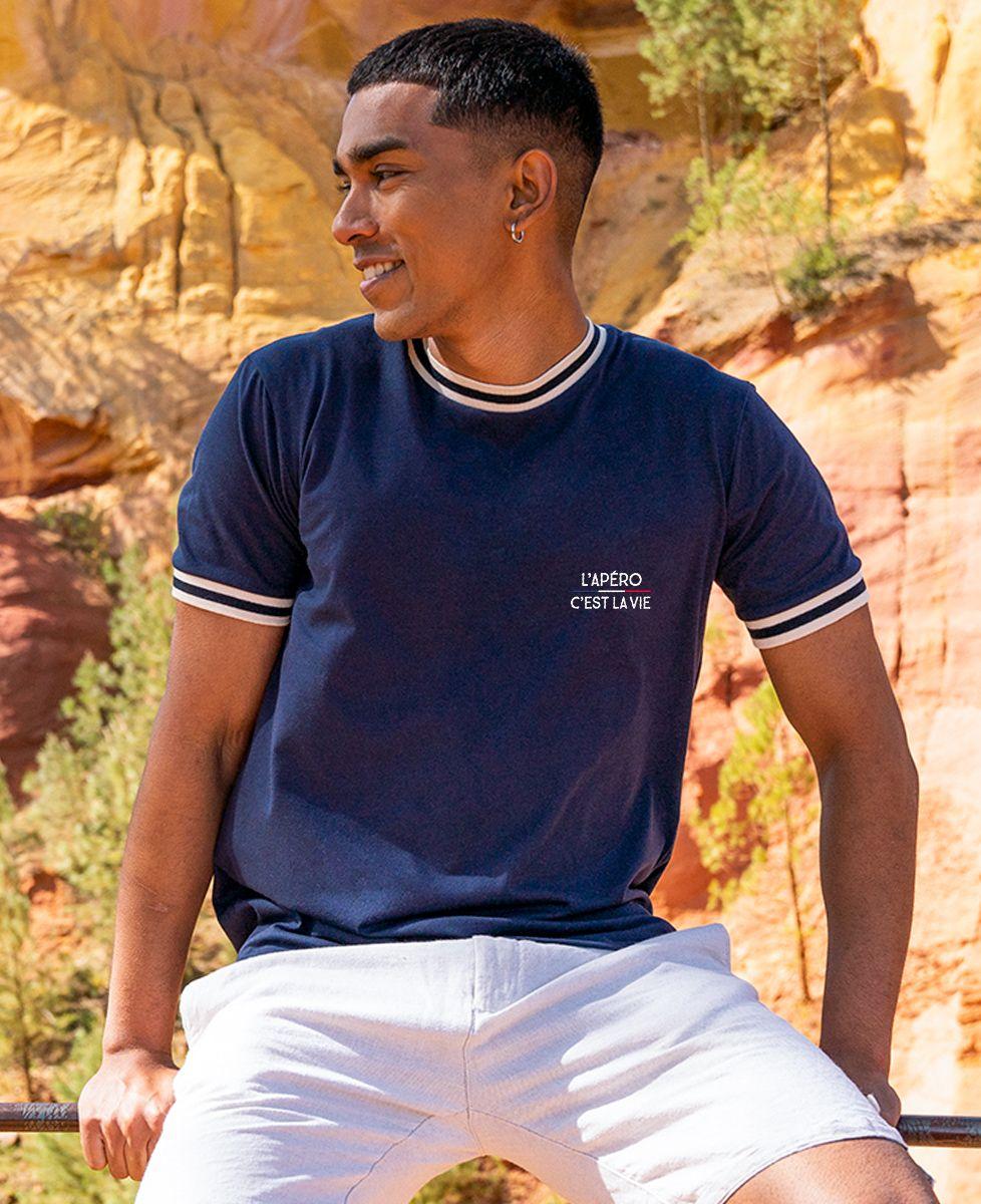 T-shirt homme recyclé Filgood Filgood l'apéro c'est la vie (brodé)