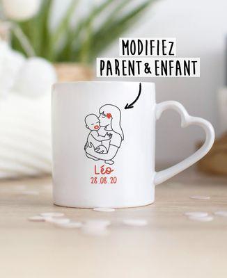 Mug Parent et bébé imprimé personnalisé