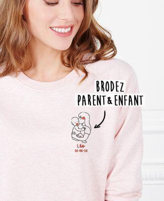 Sweatshirt femme Parent et bébé brodé personnalisé
