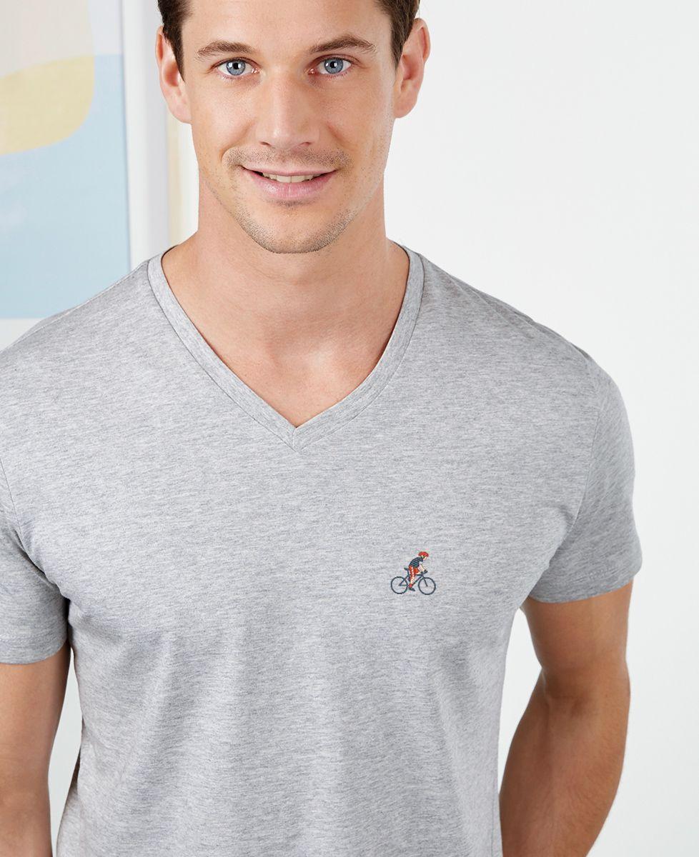 T-Shirt homme Cycliste (brodé)