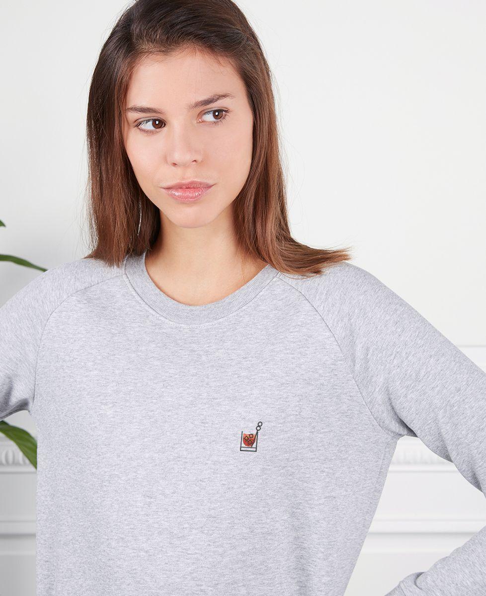 Sweatshirt femme Americano (brodé)