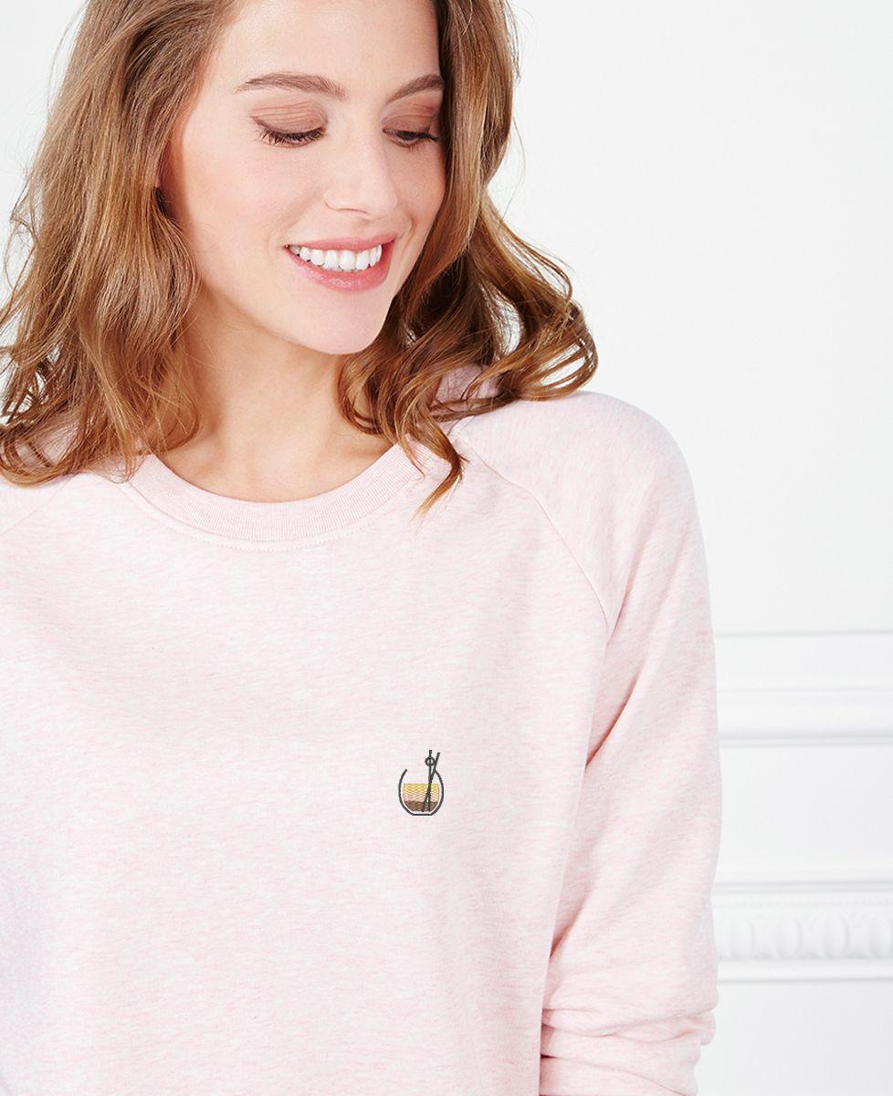 Sweatshirt femme White russian (brodé)
