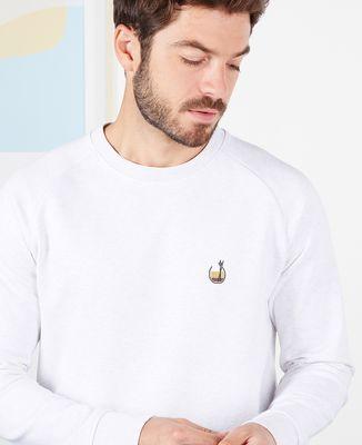Sweatshirt homme White russian (brodé)