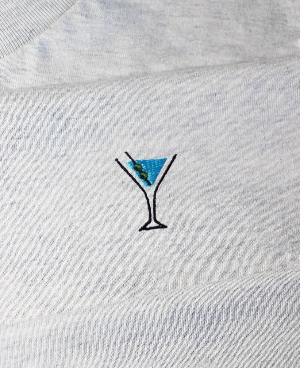 Sweatshirt femme Dry martini (brodé)