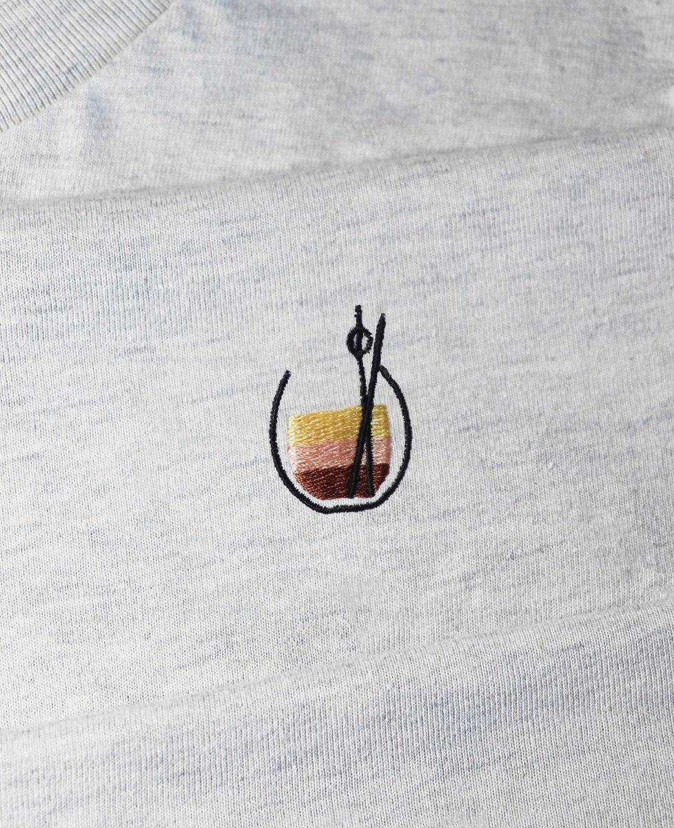 T-Shirt femme White russian (brodé)