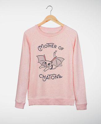 Sweatshirt femme Mother of chatons