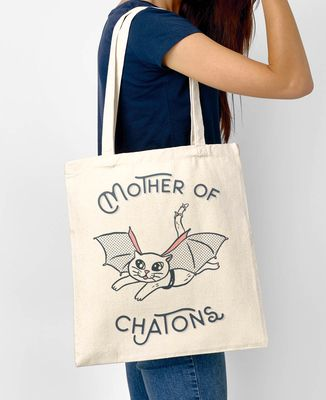 Totebag Mother of chatons