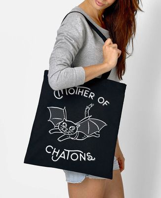 Tote bag Mother of chatons