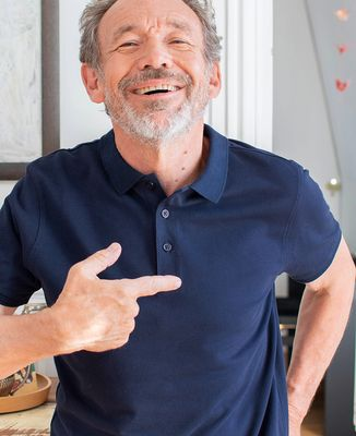 Polo homme Petit coeur brodé personnalisé