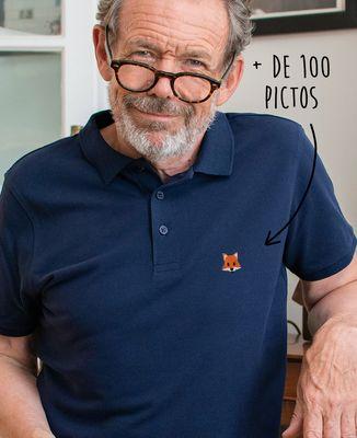 Polo homme Picto brodé personnalisé
