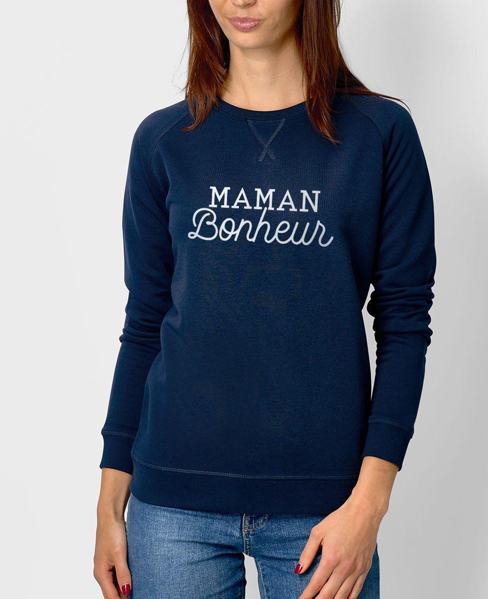 Sweatshirt femme Maman bonheur
