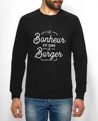 Sweatshirt homme Le bonheur est dans le burger
