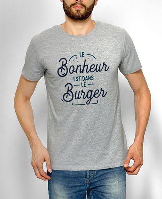 T-Shirt homme Le bonheur est dans le burger
