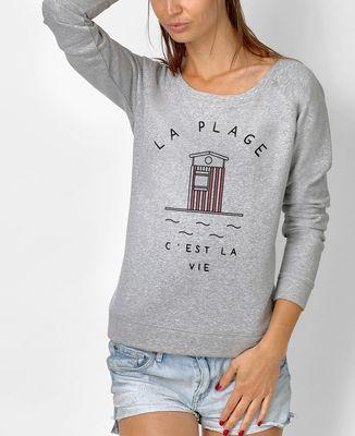 Sweatshirt femme La plage c'est la vie