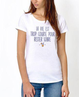 T-Shirt femme Rester sobre
