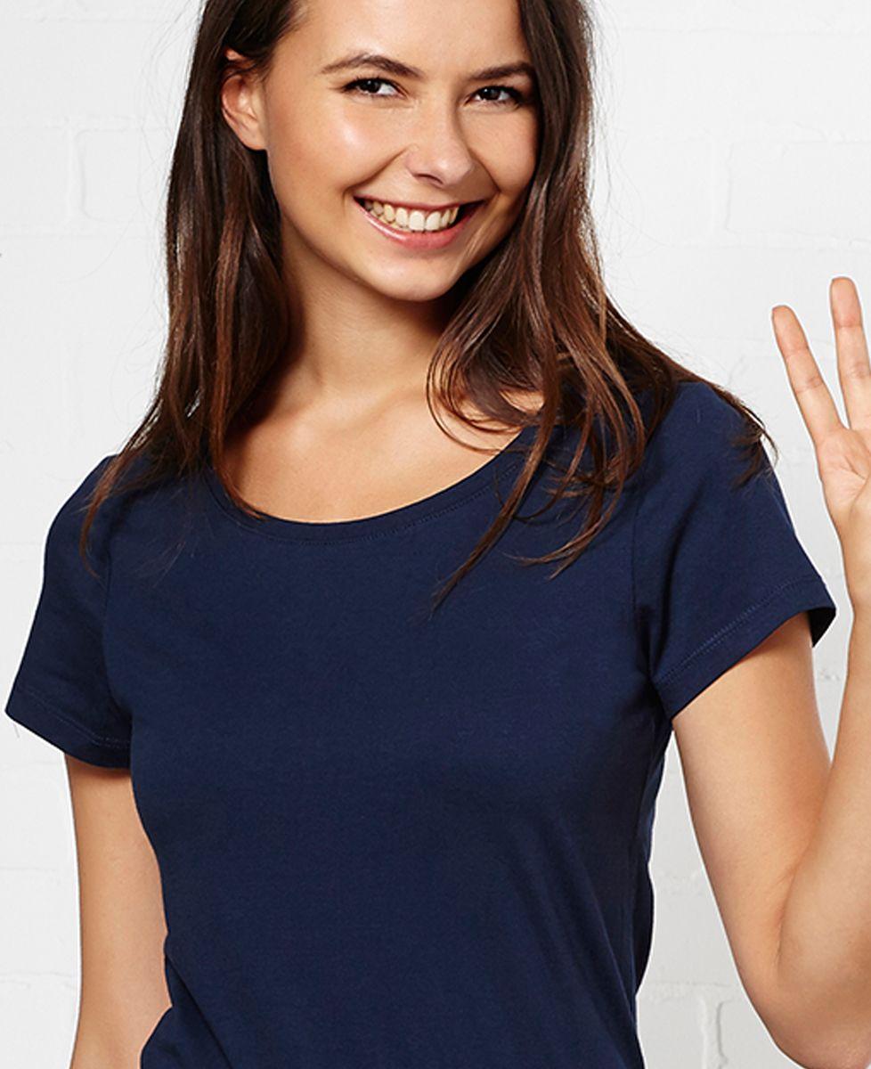 T-Shirt femme Petit coeur brodé personnalisé